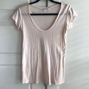 James Perse Light Pink Shirt 0